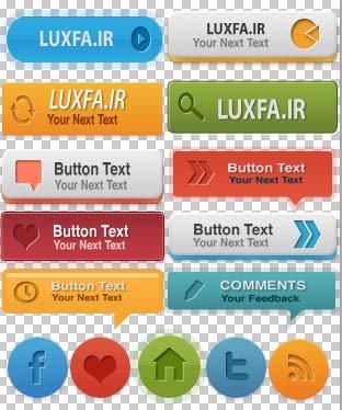 35 دکمه های وب